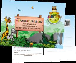 Kiddy Dome Schutterwald EInladungskarte zum Herunterladen